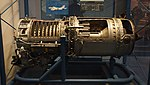 Ishikawajima-Harima J3-IHI-7D turbojet engine(cutaway model) left side view at Kakamigahara Aerospace Science Museum November 2, 2014.jpg