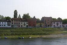 La parte bassa di Borgo Ticino, a Pavia