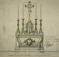 Ébauche d'un autel rococo avec tabernacle