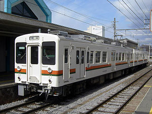 Iida Line - JR Central 119 Series train at Inakita Station
