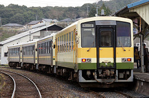 Kisuki Line - KiHa 120 DMUs on the Kisuki Line in April 2012