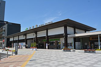 Narita Station - The station entrance in May 2016