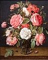 Jacob van hulsdonck, rose in un vaso di vetro, 1640-45 ca. 02.jpg