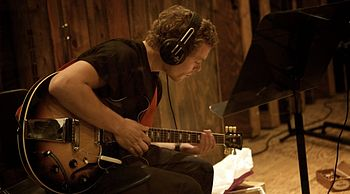 "English: Jakob Bro at the recordings for ""..."