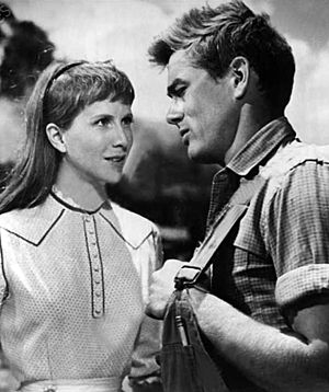Julie Harris (actress) - Julie Harris and James Dean in East of Eden (1955)