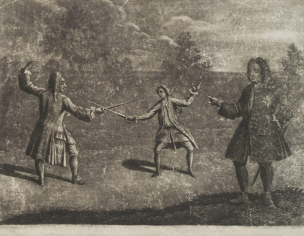 James Douglas, 4th Duke of Hamilton; Charles Mohun, 4th Baron Mohun from NPG