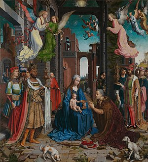 Jan Gossaert - The Adoration of the Kings, formerly at Castle Howard, now at the National Gallery
