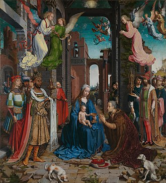 Adoration of the Magi - ''Adoration'' by Jan Gossaert, c. 1510