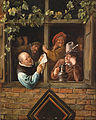 Jan Steen, Dutch (active Leiden, Haarlem, and The Hague) - Rhetoricians at a Window - Google Art Project.jpg