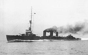 Japanese cruiser Tatsuta (1918) - Image: Japanese cruiser Tatsuta 1919