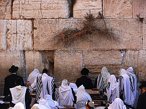 Jewish prayer - Jews praying in Jerusalem (HaKotel HaMaaravi), 2010.
