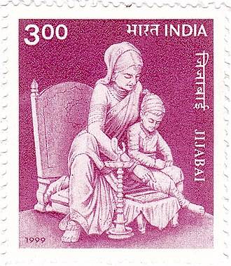 Jijabai - Jijabai on a 1999 stamp of India