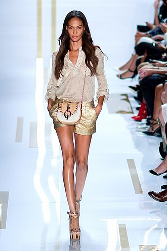 Joan Smalls - Smalls on the runway for DVF, 2014 New York Fashion Week