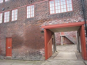 Well Meadow Street Crucible Furnace - Entry to the courtyard: Joel's Yard