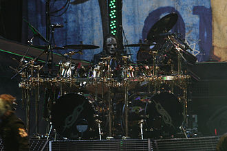 Joey Jordison - Joey Jordison performing with Slipknot at 2008's Mayhem Festival.