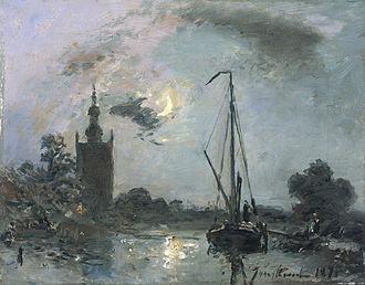 Western painting - Johan Jongkind, 1871, a prefiguration of impressionism