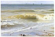 Meeresbrandung mit fernen Schiffen, 1836, Staatliche Kunsthalle Karlsruhe (Quelle: Wikimedia)