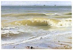 Johann Wilhelm Schirmer, Kipiel morska z odległymi statkami