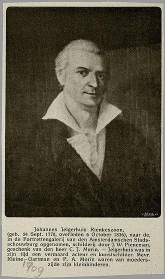 Johannes Jelgerhuis - Portrait of Johannes Jelgerhuis by Jan Willem Pieneman
