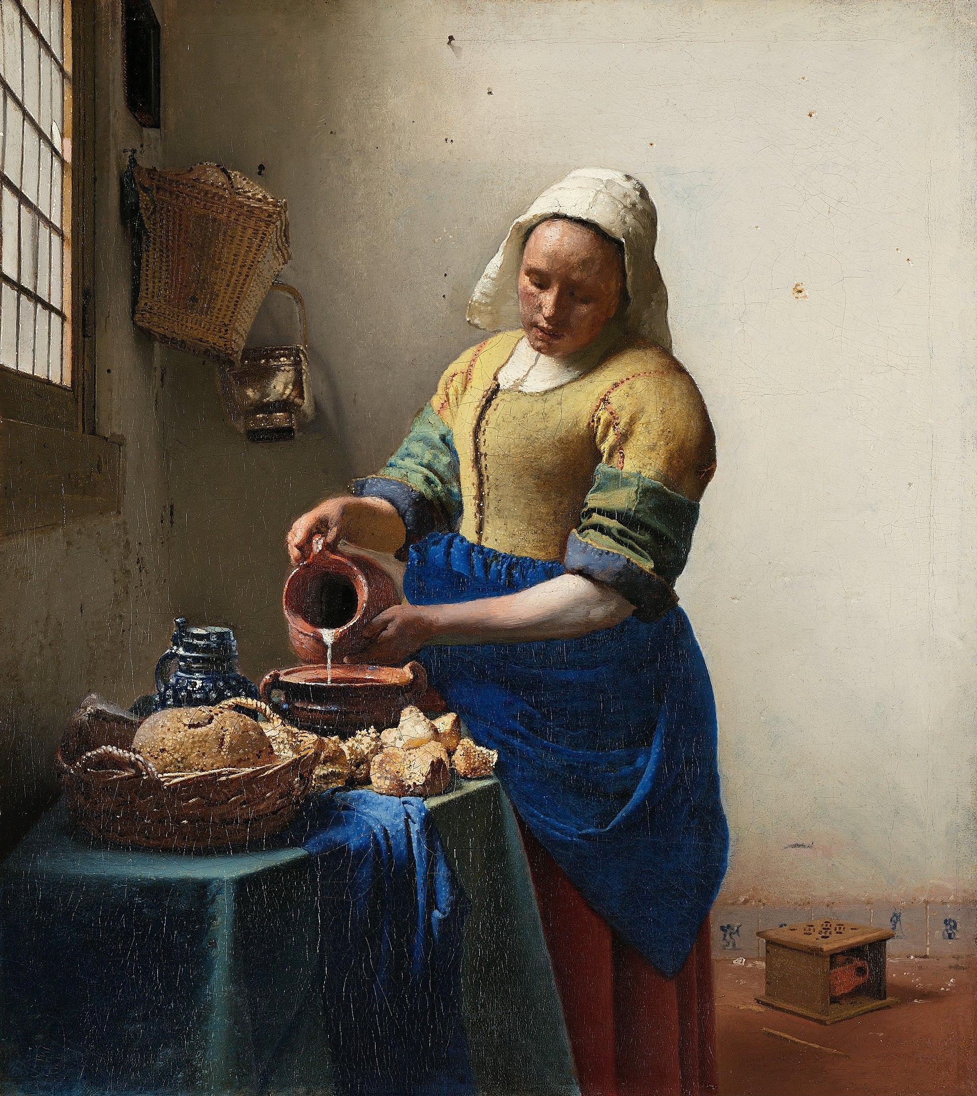 """Ян Вермеер, """"Молочница"""", около 1668г."""