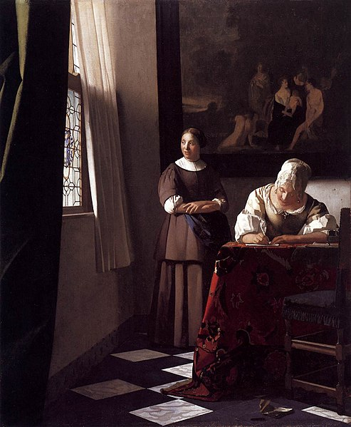 File:Johannes Vermeer - Lady Writing a Letter with Her Maid - WGA24696.jpg