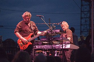 The Buggles - Geoff Downes (right) performing with Asia in 2006.