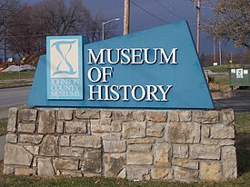 Johnson County Museum of History Entry sign, Shawnee, Kansas, USA.jpg