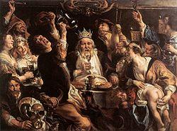 Jacob Jordaens: El rey bebe