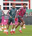 Joshua Kimmich Corentin Tolisso Training 2019-04-10 FC Bayern Muenchen-1.jpg