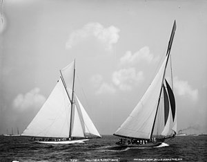 1899 America's Cup - Columbia (right) and Shamrock