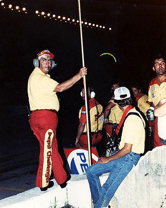 Junior Johnson - Junior Johnson, NASCAR OWNER, Darrell Waltrip, Car No. 11, Nashville 420, July 16, 1983