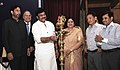 """K. Chiranjeevi lighting the lamp to launch the campaign """"777 Days of Incredible Indian Himalaya"""" on the occasion of World Tourism Day, in New Delhi on September 27, 2013.jpg"""
