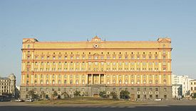 The NKVD Headquarters on Lubyanka Square designed by Aleksey Schusev.