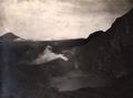 KITLV - 404523 - Kleingrothe - O.K. v. Sumatra - Crater of Gunung Sibayak. In the background the Gunung Sinabung on the east coast of Sumatra - circa 1910.tif