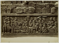 KITLV 28020 - Kassian Céphas - Relief of the hidden base of Borobudur - 1890-1891.tif