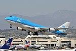 KLM Boeing 747-400 PH-BFO departing LAX (33167610793).jpg