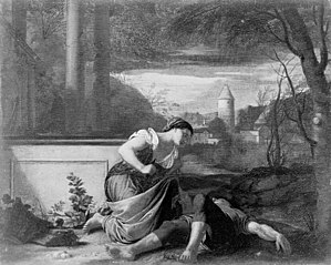 Thisbe's Suicide by the Body Pyramus