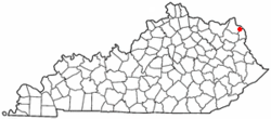 Location of Bellefonte, Kentucky