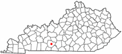 Location of Plum Springs, Kentucky
