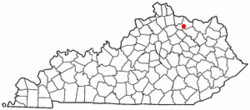 Location of Sardis, Kentucky