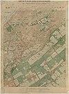 100px kaart van het militair oefeningsterrein bij waalsdorp met toegangswegen van %27s gravenhage