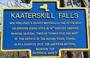 Kaaterskill Falls Sign in Palenville, Greene C...
