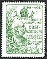 Kaiser-Jubiläums-Obstschau Deutschlandsberg 1908 Vignette gelbgrün.jpg