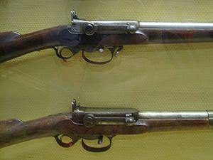 Kammerlader - The breech end of two Kammerlader rifles