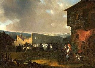 Jewish funeral in Vilnius in 1824.