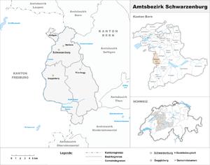 Schwarzenburg District - Image: Karte Bezirk Schwarzenburg 2007