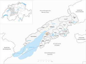 Karte von Nidau