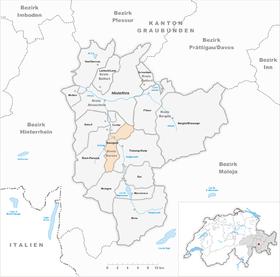 Map of Savognin