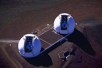W. M. Keck Observatory - Image: Kecknasa