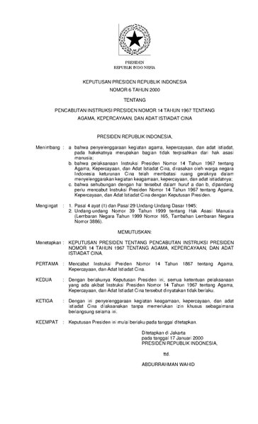 FileKeppres no.6 tahun 2000.pdf  sc 1 st  Wikimedia Commons & File:Keppres no.6 tahun 2000.pdf - Wikimedia Commons